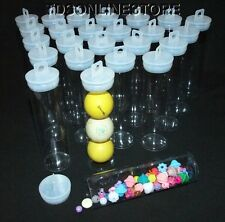 "Jumbo Round Clear Plastic Storage Tubes 5.5"" by 1.5""  Package of 25"