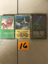 (3) NEW SEALED Assorted Christmas Music Cassette Tapes  (G) (16)