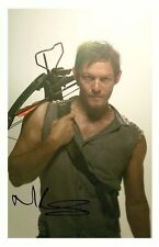NORMAN REEDUS - THE WALKING DEAD AUTOGRAPHED SIGNED A4 PP POSTER PHOTO 5