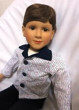 "1996 Denver 23"" MY TWINN OOAK Non-poseable BOY DOLL - Brown Hair & Eyes ""WENDY"""