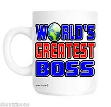 World's Greatest Boss Novelty Gift Mug