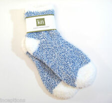 Karen Neuburger Ladies Slipper Socks Heather Heel Toe Periwinkle Blue - NEW