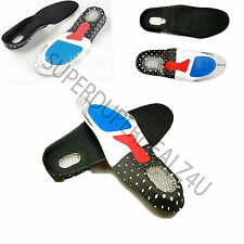 Gel heel Odour free Metatarsal Cushion Arch Support FULL FOOT ORTHOTIC INSOLE