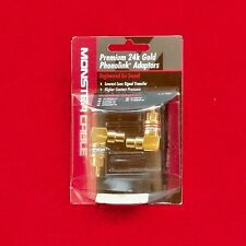 1 pair Monster Cable 24k right-angle RCA adaptors ARAMF-H - sealed new old stock