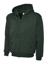 Unisex Heavy Fleece Blend Men's Full Zip Up Hooded Sweatshirt Cardigan Hoody Lot