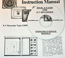 Bruel & Kjaer 2308 X-Y Recorder, Operating & Service Manuals (2 volumes)