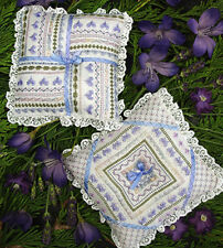 French Lavender Pillows - Pillow Pincushions - Victoria Sampler New Chart