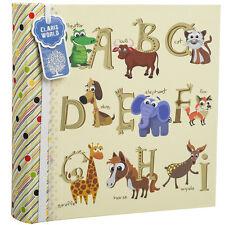 """Baby alphabet/nombre cadeau album photo détient 200 photos 6 x 4"""" animaux imprimer CL6822"""