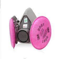 Free Shipping 3M 6200 Spray Paint/Dust Mask respirator+3M 2091 P100 Filters *