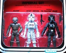 Star Wars ESB Vintage Retro Imperial 3-Pack Tie Fighter Pilot AT-AT Driver MOC