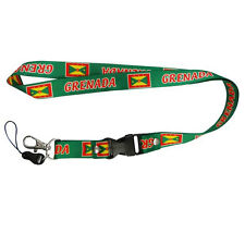 GRENADA GREEN COUNTRY FLAG LANYARD KEYCHAIN PASSHOLDER .. NEW
