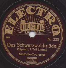 Sinfonie-Orchester spielt Leon Jessel Operette : Schwarzwaldmädel