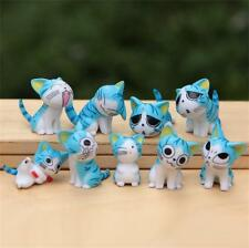 9pcs Japan Anime Lovely Cute Chi's Sweet Home Blue Cat Figure figurine gardening