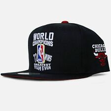 NEW Mitchell & Ness CHICAGO BULLS Greatest Team Ever 72-10 snapback cap hat