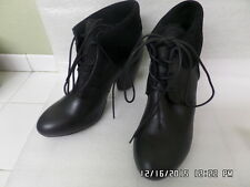 New Latest EMU AUSTRALIA Rose Malee black leather tie lace ankle boots sz 10