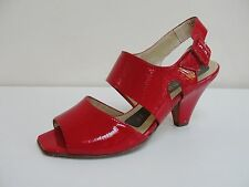 Peter Kaiser Rawita red patent open toe sandals, UK 3.5/EU 36.5, RRP £105, BNWB