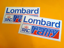 LOMBARD RAC RALLY  Motorsport Classic Stickers Decals 2 off 150mm