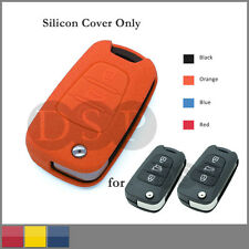 Leather Texture Silicone Cover fit for HYUNDAI KIA Flip Remote Key Case 3BTN OR