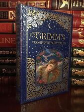 Grimm's Fairy Tales New Sealed Illustrated Leather Bound Deluxe Collectible Gift