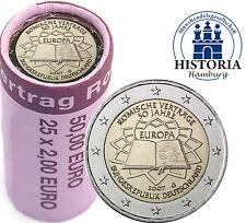 25 x 2 Euro Deutschland 2007 bfr.Römische Verträge Mzz. G in Rolle