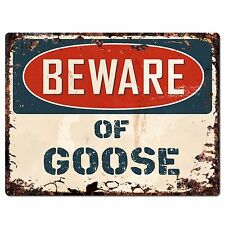 PP1352 Beware of GOOSE Plate Rustic Chic Sign Home Room Store Decor Gift