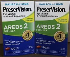 PreserVision AREDS 2 Formula. Eye Vitamin & Mineral Supplement Softgels. 2 packs