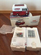 RARE CROWN PREMIUMS 1950 FORD STEP VAN 1/24  Red And White LENNOX Metal 2002 New