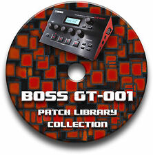 BOSS GT-001 PRE-PROGRAMMED PATCHES CD - OVER 5,500! GUITAR EFFECTS PEDALS