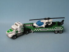 Matchbox Convoy Mack German Police Polizei Helicopter Transporter Unboxed