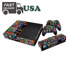 New Carton Avenger Play Decal Skin Sticker For Xbox ONE 2 Free Controller Cover