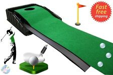 Automatic Golf Putting Mat Green Practice Putt Auto Ball Driver Office Home Gift