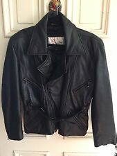Ladies Vintage Excelled Leather Motorcycle Jacket Size S