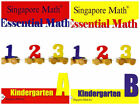 Singapore Essential Math Kindergarten A+B books - FREE Expedited Shipping