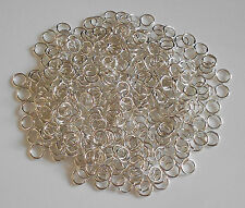 400 JUMPRINGS SILVER PLATED OPEN JUMP RINGS 6mm x 0.9mm STRONG  LEAD & NICKE