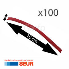 100X Tubo 10 cm Retractil Rojo Cable 2 mm diametro aislador termoretractil