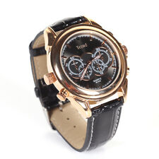 1080P 8GB Spy Wrist Watch Covert Camera Surveillance IR Night Vision DVR Golden