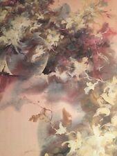 Len Garon / Floral Mist 1980s Plate Signed Poster