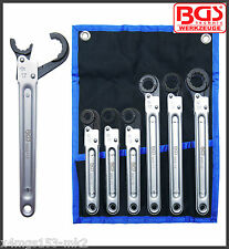 BGS - Brake, Pipe, Servo, Oil Line - Ratchet Spanners - 10 - 22 mm - Pro - 8665
