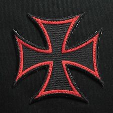 PATRIOT CROSS US MILITARY BADGE BLACK OPS RED VELCRO® BRAND FASTENER PATCH