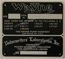 Wayne Gas Pump ID Tag Fits Models 60, 70 & 100 ID-107