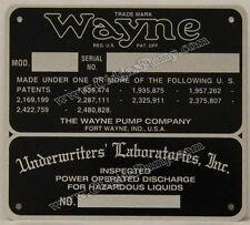 Wayne Gas Pump ID Tag Fits Models 60, 70 & 100 ID-107 Free S&H