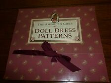 American Girl Addy Doll Dress Patterns Pleasant Company Complete Uncut
