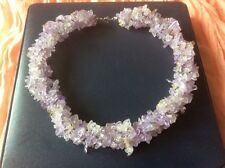 NEW Chunky Gemstone Ametrine Necklace Sterling Silver Clasp Presentation Box