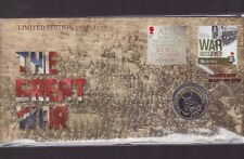 2014 The Great War Australia PNC UK £2 Coin Stamp War Declared 1914-1918 WWI