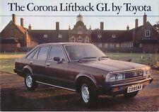 Toyota Corona Liftback GL 1979-81 original UK Market Sales Brochure No. 90179