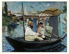 Edouard Manet Die Barke 1874 Poster Bild Kunstdruck 48x60cm Kostenloser Versand