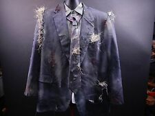 Zombie Suit Jacket Halloween Costume 3Pc Cosplay Walking dead Scary Horror