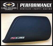 2014-16 C7 Corvette Genuine GM Black Leather Console Lid Z06 Logo 23296454