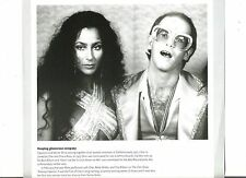 ELTON JOHN with Cher magazine PHOTO / clipping 8x8 inches