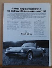 1972 magazine ad for Triumph - winner of Championships, Triumph Spitfire